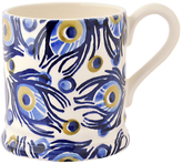 Emma Bridgewater Blue Peacock Half Pint Mug, 284ml