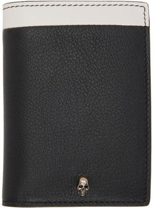 Alexander McQueen SSENSE Exclusive Black Pocket Organizer Bifold Wallet