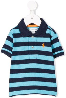 Ralph Lauren Kids Striped Print Polo Shirt