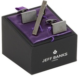 Jeff Banks Gunmetal Textured Cufflinks And Tie Clip In A Gift Box