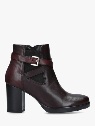 Carvela Silver Leather Block Heel Ankle Boots