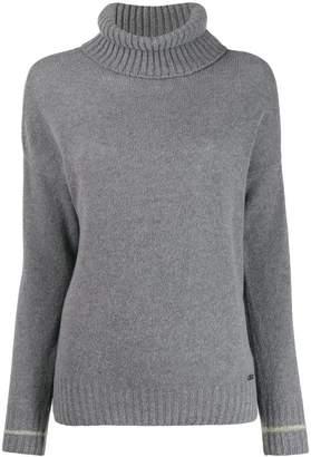 Fay fine knit roll neck jumper