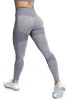 Yaavii Women's Seamless High Waist Yoga Pants Elastic Running Gym Workout Yoga Leggings