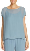 Eileen Fisher Short Sleeve Silk Blouse