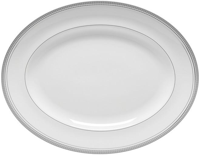 Monique Lhuillier Waterford Platine Medium Oval Platter