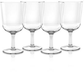 TarHong Simple Wine Glass, Clear, 16 oz, Premium Plastic, Set of 6