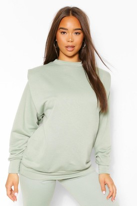 boohoo Shoulder Pad Detail Sweatshirt