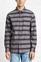 Forever 21 FOREVER 21+ Slim-Fit Striped Cotton Shirt