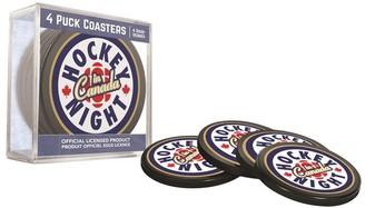Amazebrand Hockey Night In Canada Puck Coasters Set Of 4