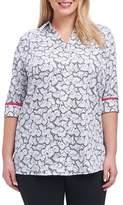Foxcroft Faith Butterfly Print Shirt