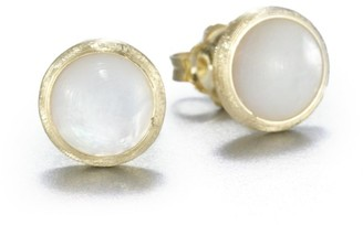 Marco Bicego Jaipur Resort Mother-Of-Pearl & 18K Yellow Gold Stud Earrings