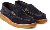 Yuketen - Suede Penny Loafers