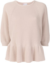 RED Valentino peplum ribbed jumper