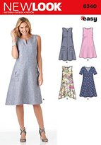 New Look 6340 Size A Misses' Easy Dresses Sewing Pattern, Multi-Colour