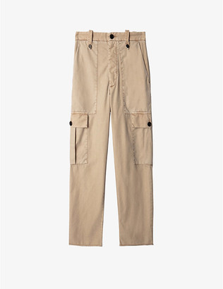 Zadig & Voltaire Pilote Bord patch-pocket cotton cargo trousers
