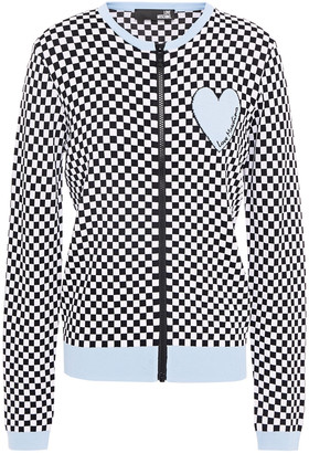 Love Moschino Checked Jacquard-knit Cardigan