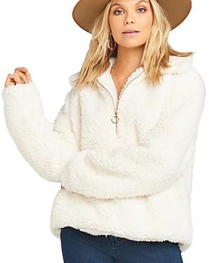 Show Me Your Mumu Kassidy Sherpa Half-Zip Sweater