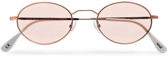 Andy Wolf Alina Round-frame Metal Sunglasses