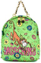 Moschino crowned monkey backpack