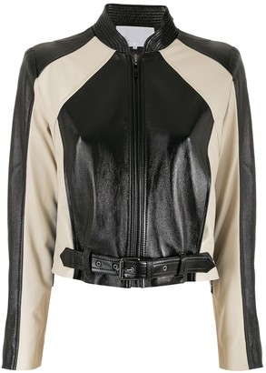 Nk Leather Biker Jacket
