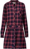Current/Elliott The School Girl Cotton-Flannel Mini Dress