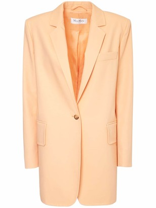 Max Mara Cotton & Nylon Long Blazer Jacket