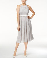 Tommy Hilfiger Polka-Dot Belted A-Line Dress