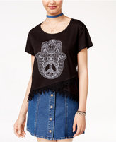 Hybrid Juniors' Hamsa Graphic T-Shirt
