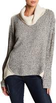 Amy Byer Cowl Neck Mix Yarn Chunky Sweater