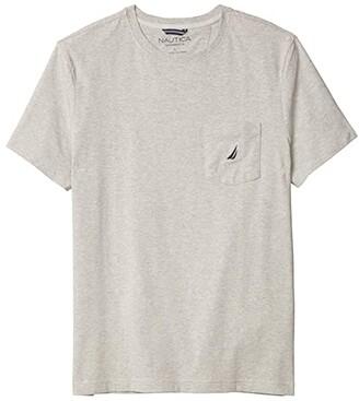 Nautica Short Sleeve Solid Anchor Pocket Tee (True Black) Men's T Shirt