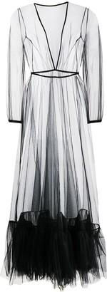 Alchemy Sheer Tulle-Hem Maxi Dress