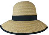 Morgan & Taylor Braided Wide Brim Hat With Curved Back