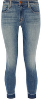 J Brand 835 Cropped Mid-rise Skinny Jeans - Mid denim