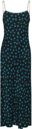 Rixo Floral Print Silk Midi Dress