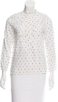 Marc by Marc Jacobs Embroidered Button-Up Top