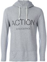 Comme des Garcons 'Action Is Eloquence' printed hoodie