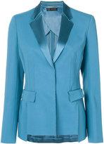 Versace satin lapel blazer