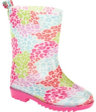 Online Pebble Leopard Printed Toddler Girls' Jelly Rain Boots