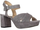 Adrienne Vittadini Footwear Powel Platform Sandals, Granite.