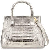 Nancy Gonzalez Crocodile Small Soft Lady Bag, Anthracite`