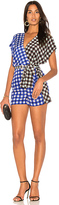 Diane von Furstenberg Wrap Romper in Blue. - size 0 (also in 2,4,6)