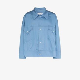 Vaquera oversized Western cotton shirt jacket