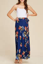 Apricot Lane Navy Floral Maxi-Skirt