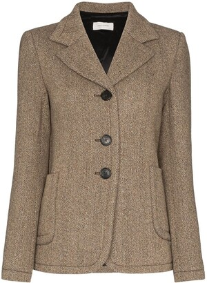Wales Bonner Tweed Single-Breasted Blazer