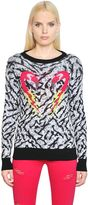 Diesel Flamingo Jacquard Cotton Knit Sweater