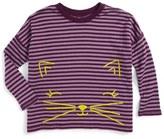 Tea Collection Fuwafuwa Double Knit Top (Toddler Girls, Little Girls & Big Girls)