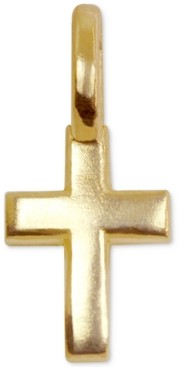 Alex Woo Mini Cross Charm in 14k Gold