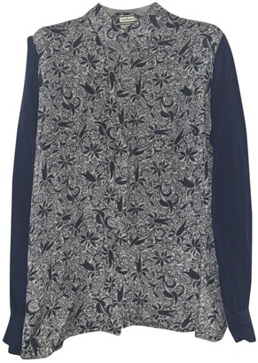 By Malene Birger Navy Silk Top for Women