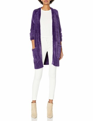 A|X Armani Exchange Women's Long Cardigan with Pockets