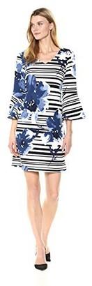 Ronni Nicole Women's Ruffle Sleeve Floral Shift